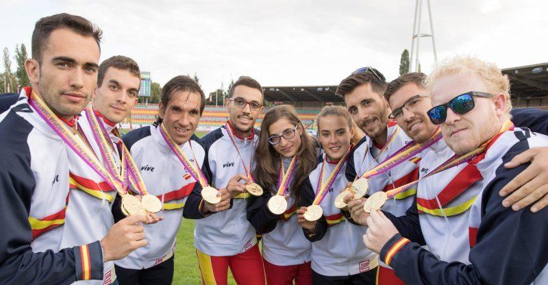 Medallistas paralímpicos. Fuente: CPE