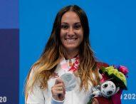 Sarai Gascón, plata en 100 metros libre