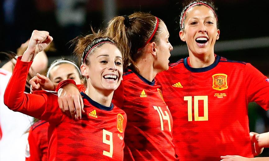 Selección española de fútbol femenino. Fuente: RFEF