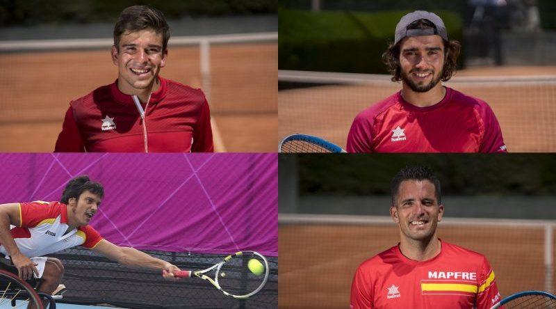 Tenistas paralímpicos españoles. Fuente: CPE