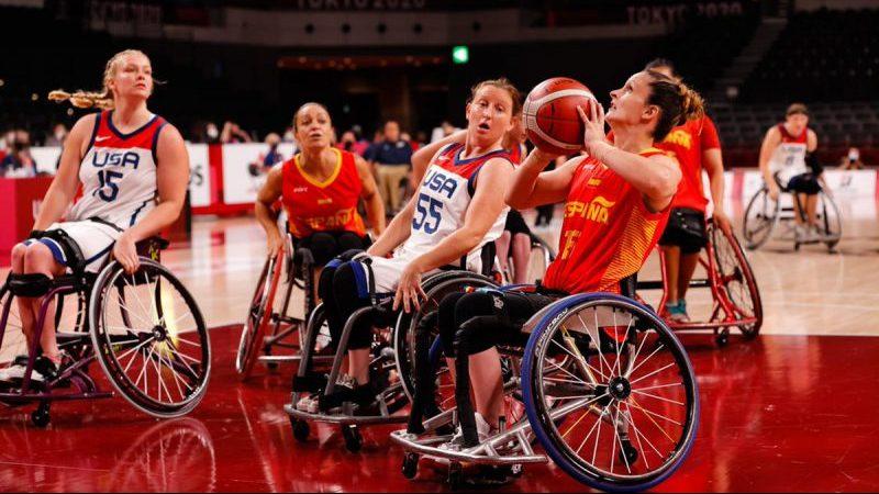 Selección española femenina de baloncesto en silla en Tokio. Fuente: CPE