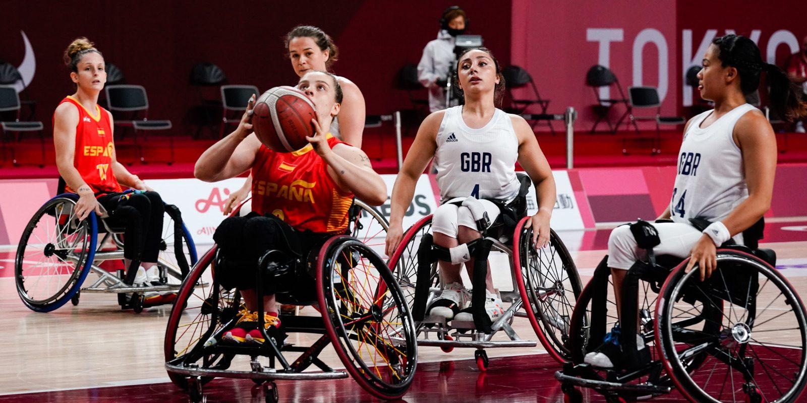 La selección española de baloncesto femenino en silla. Fuente: CPE.
