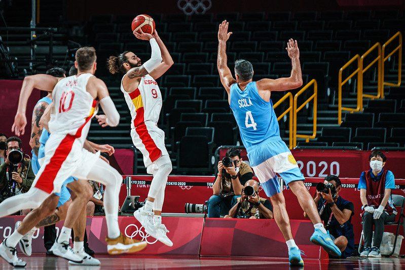 La selección española masculina de baloncesto en Tokio. Fuente: FEB