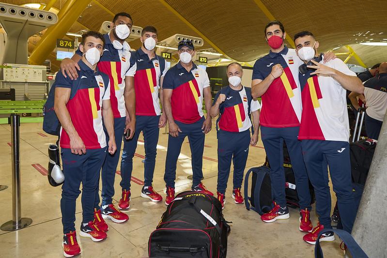 Equipo olímpico de boxeo español. Fuente: COE