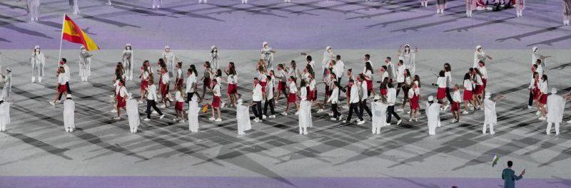 La delegación de España en la ceremonia inaugural de Tokyo 2020. Fuente: COE