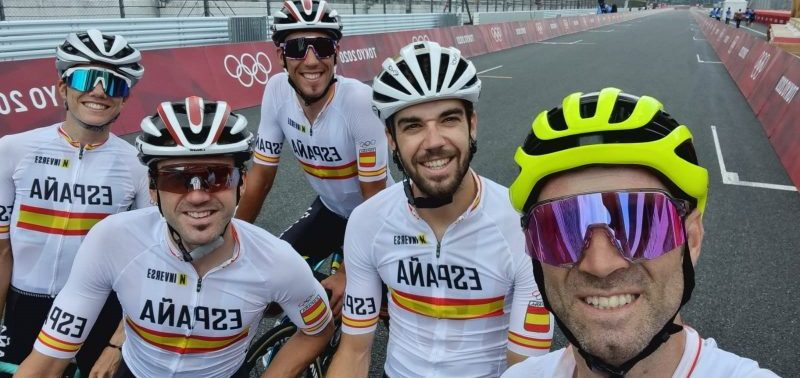 Equipo ciclista español olímpico. Fuente: COE