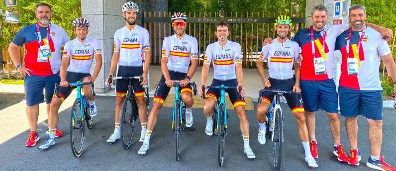 Ciclistas españoles en Tokio. Fuente: COE