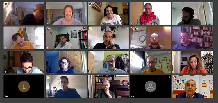 Encuentro virtual. Fuente: COE