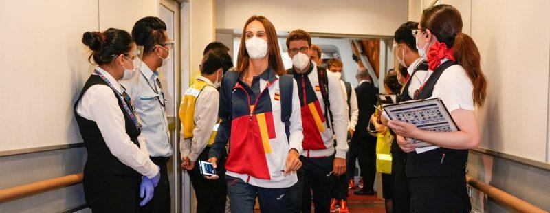Llegada del Equipo Olímpico Español a Tokio. Fuente: COE