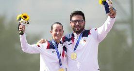 Fátima Gálvez y Alberto Fernández, oro en tiro al plato por equipos mixto