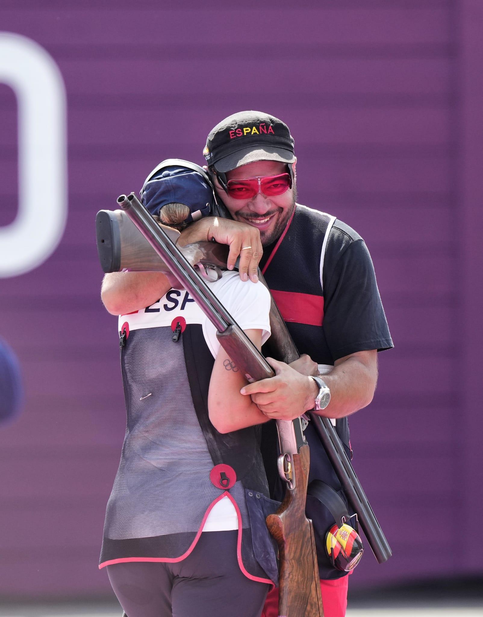 Fátima Gálvez y Alberto Fernández en Tokio. Fuente: COE