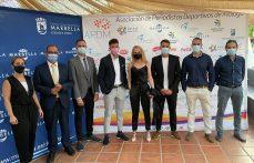 Los periodistas Jesús Ortiz, Daniel Marín, Alberto Fuentes y Julio Rodríguez, ganadores del I Premio de Periodismo Deportivo Ciudad de Marbella