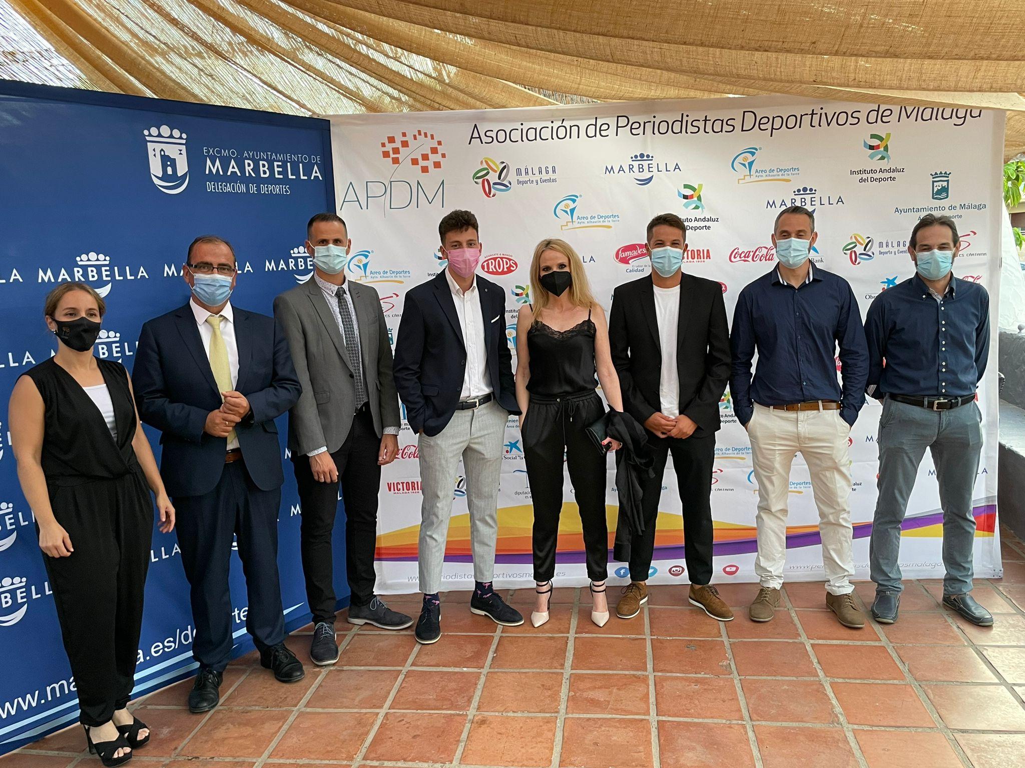 Ganadores y jurado del I Premio de Periodismo Deportivo Ciudad de Marbella. Fuente: Avance Deportivo