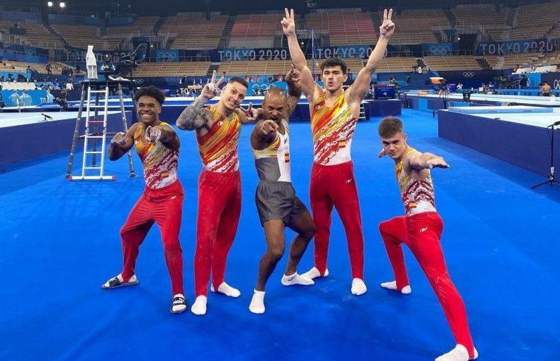 El equipo de gimnasia artístico español. Fuente: COE
