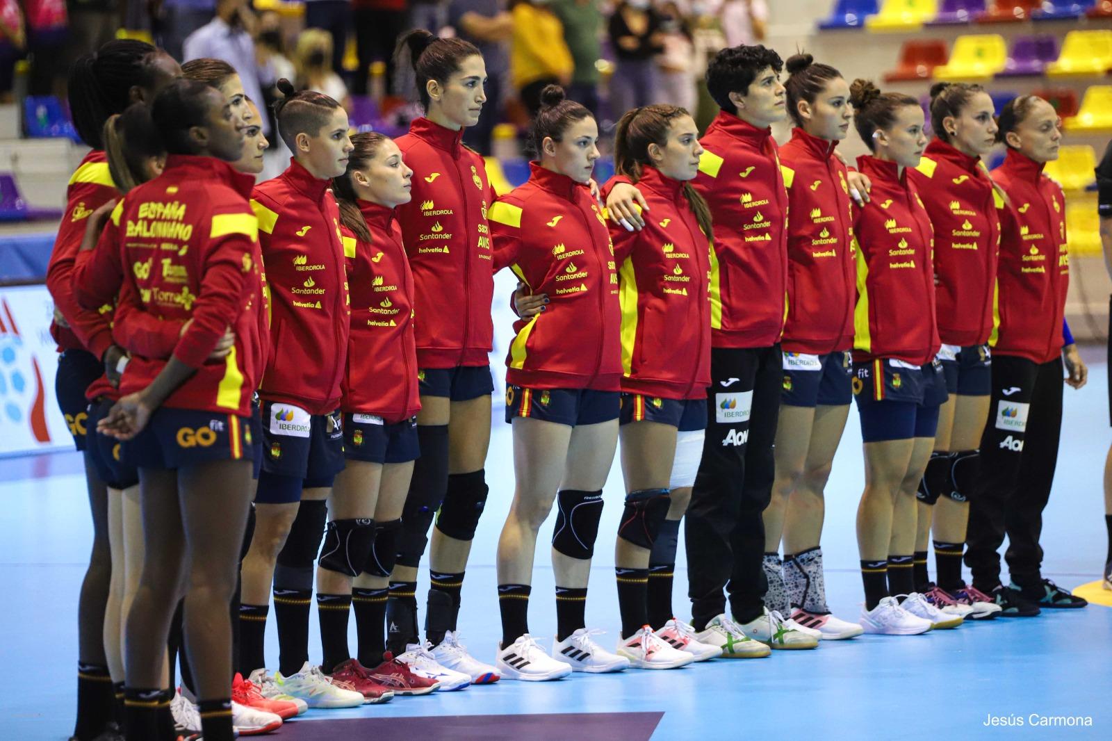 Selección Española Femenina de Balonmano en Antequera. Fuente: Avance Deportivo/Jesús Carmona