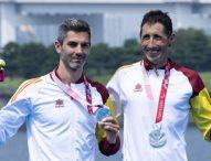 Los triatletas Héctor Catalá y su guía Gustavo Rodríguez, subcampeones paralímpicos