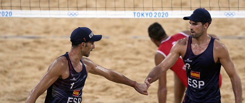 Herrera y Gavira en Tokio. Fuente: COE