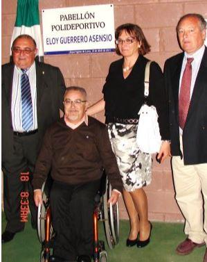 Eloy Guerrero en el pabellón que lleva su nombre.