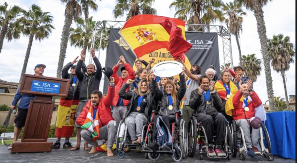 Selección Española de Surf Adaptado. Fuente: FES