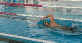Jacobo Garrido, entrenos en soledad en la piscina del CN Liceo