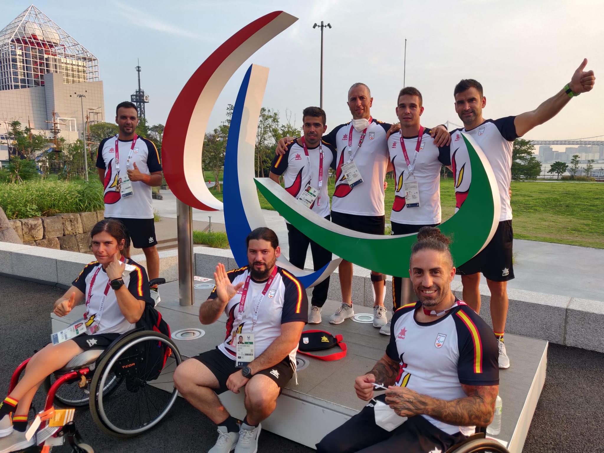 Piragüistas paralímpicos españoles. Fuente: Rfep