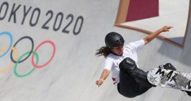 La skater Julia Benedetti, 16ª en Tokio