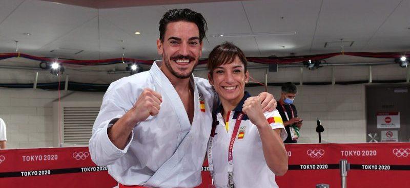 Damián Quintero y Sandra Sánchez. Fuente: COE