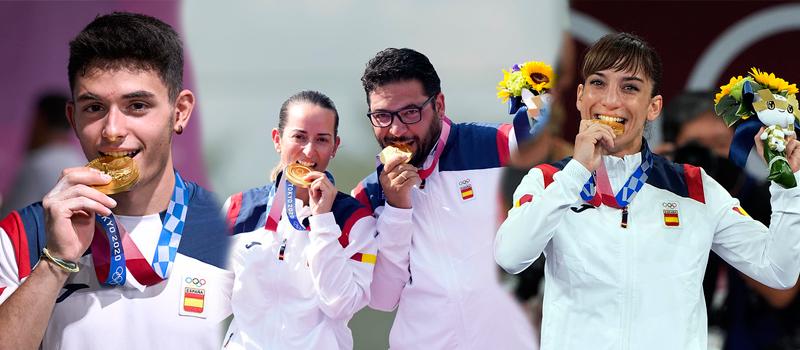 Oros olímpicos españoles en Tokyo 2020. Fuente: COE