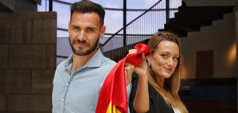 Saúl Craviotto y Mireia Belmonte. Fuente: COE