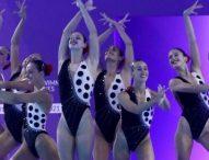 España, 7ª en la prueba de equipos en natación artística