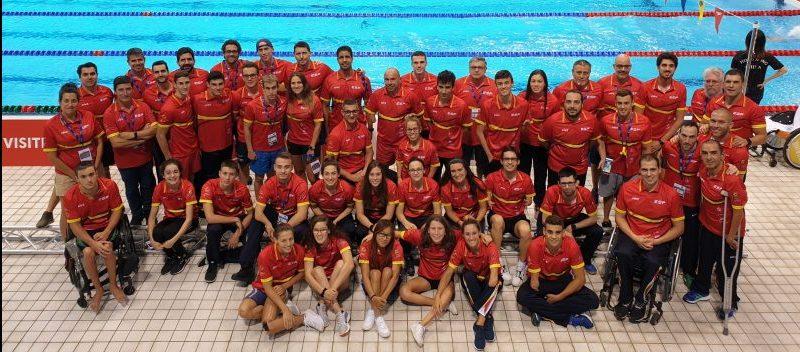 Equipo de nadadores paralímpicos español. Fuente: CPE