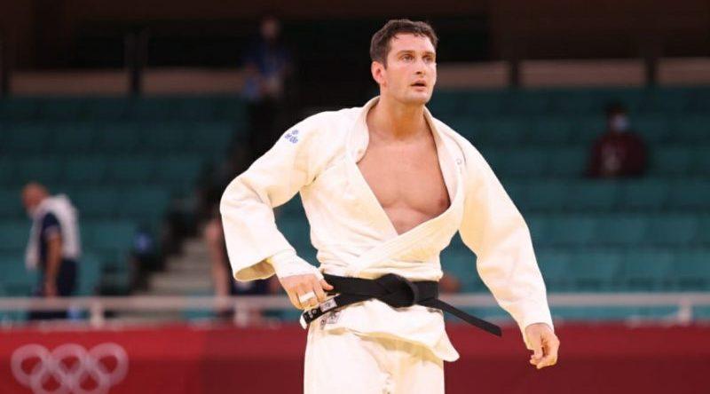 Nikoloz Sherazadishvili cae en la repesca en Tokyo 2020. Fuente: COE