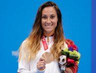 Sarai Gascón, bronce en 100 metros mariposa