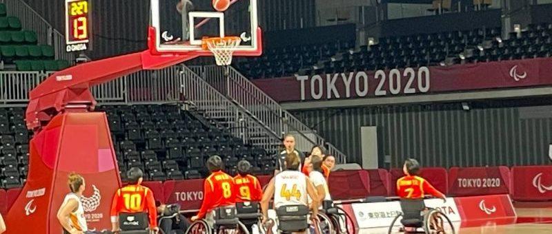Selección española femenina de baloncesto en silla en Tokio. Fuente: AD