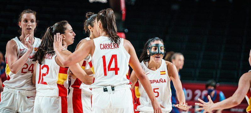 La selección española femenina de baloncesto en Tokio. Fuente: COE