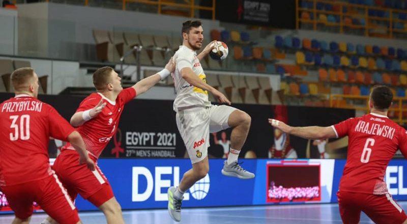 España vs Polonia. Fuente: Egypt 2021 Men's Handball World Championship.
