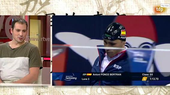 Toni Ponce en 'Objetivo Tokio' de Teledeporte. Fuente: CPE