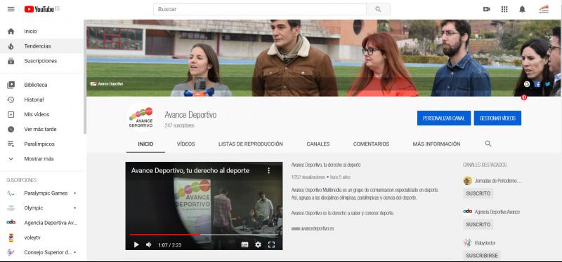 Youtube. Fuente: Avance Deportivo